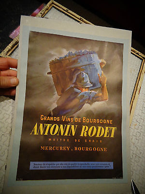 Grand Vins de Bourgogne Antonin Rodet Mercurey : Benne à Vendanges Vigne Raisin