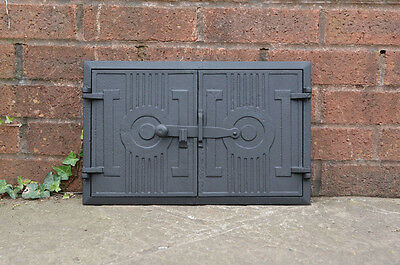 42 x 27.2 cm cast iron fire door clay / bread oven doors pizza stove fireplace