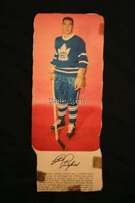 Rare Vintage Star Weekly NHL Player Profiles  Lot of 4 -1957-58  Leafs Pulford
