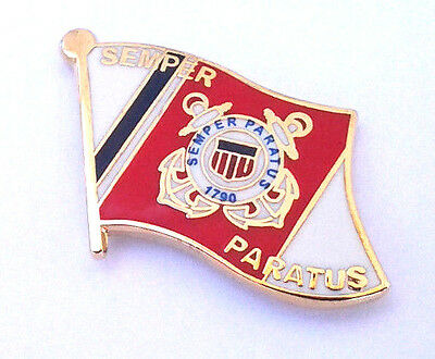 US COAST GUARD SERVICE BADGE Military Veteran Hat Pin P62567