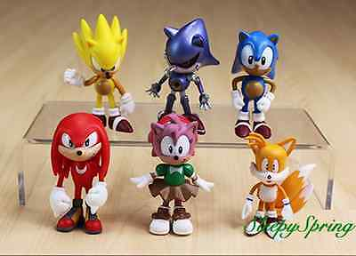 Sonic The Hedgehog Action Figure Cake Topper Kid Figurines Play Set 6 Pcs