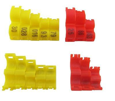 3/4/4.5/5mm*20pcs open clip plastic Bird Ring Leg Finch Canary bands numbered