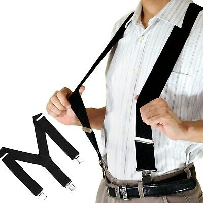 EXTRA WIDE SUSPENDERS 35mm / 50mm ADJUSTABLE CLIP ON STRONG MENS ELASTIC BRACES