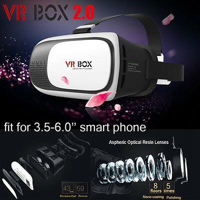 VR BOX Virtual Reality Headset 3D Glasses for iPhone Samsung HTC Smartphone