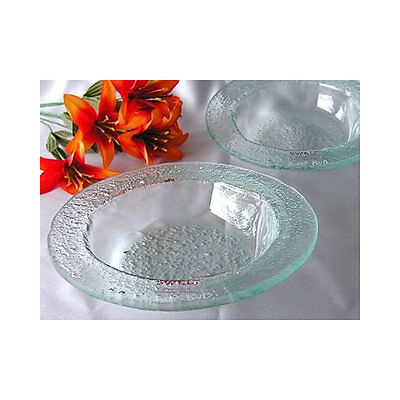 Two Handmade Glass Plates - Salad Bowl
