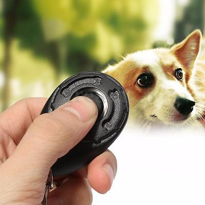 UK Pet Dog Puppy Clicker Training Obedience Aid Teaching Fun Exercise Tool New