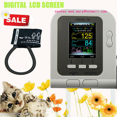 Vet Veterinary OLED digital Blood Pressure & Heart Beat Monitor NIBP CONTEC 08A