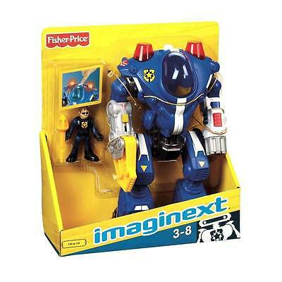 Fisher Price Imaginext Police Robot Action Figure Toy Fisher-Price Kids Gift