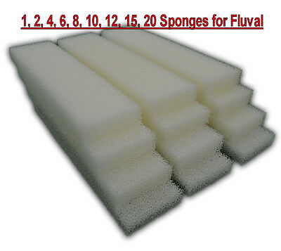 4, 8, 12 xCOMPATIBLE FLUVAL 3 PLUS FOAM FILTER SPONGE PADS REPLACEMENTS MEDIA