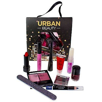 Love Urban Beauty 10Piece Lucky Dip Gift Set Cosmetic Makeup Bag Eyes Lips Nails