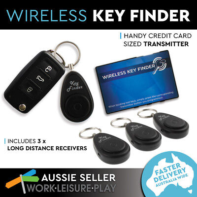 Wireless Key Finder Keyring Locator With Receiver Remote 10m Power 3 Pack
