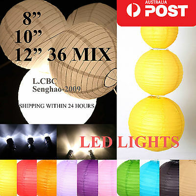 Bulk 36 x Chinese Paper Lanterns Home Birthday Party Wedding Decoration