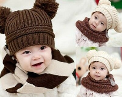 Baby Girl & Boy Knitted Beanies - 6 Months - 3 Years Old