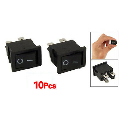 10Pcs x 4 Pin On-Off 2 Position DPST Boat Rocker Switches 10A/125V 6A/250V AC BF