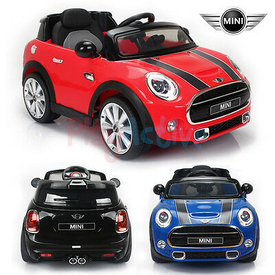 Mini Cooper Licensed 12V Kids Ride On Twin Motor Remote Control Car / Cars