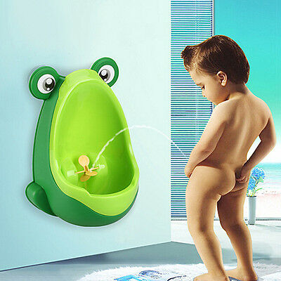 Lovely Child's Toddler Kid Baby Boy Frog Potty Urinal Pee Toilet Training Tool