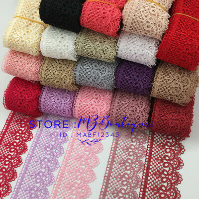 FP85 1 Yards Lace Trim Ribbon For Dress Skirt Embroidered DIY Sewing Handicraft