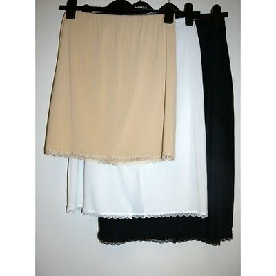 New Ex M&S Waist Slip with Cool Comfort Technology Lace Trim Slinky Cling Free
