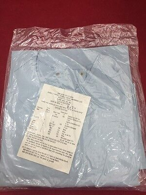 ONE NEW ALAMO Durable Press Universal Size Hospital Gown Light Blue