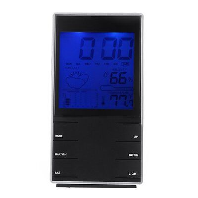 LCD Indoor Digital Humidity Temperature Calendar Alarm Weather Forecast BF