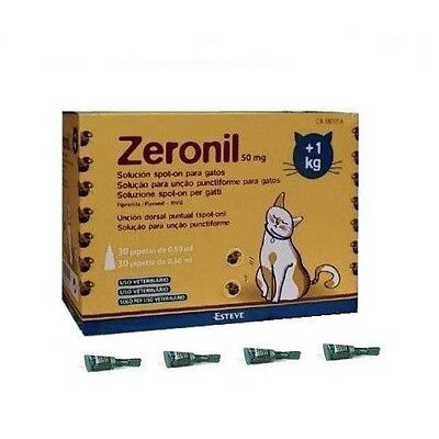 3 Pipetas gatos +1 Kg Zeronil 50mg pipeta anti pulgas Spot On pipette garrapatas