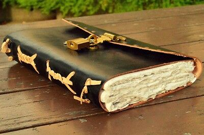 Leather Journal Real Lock And Key Vintage Handmade Bound Diary Book Of Dream 9x5