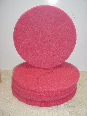 """FLOOR BUFFING/BUFFER  PADS, 17"""" RED 5100, 175-600 RPM'S 3M 5 Count"""