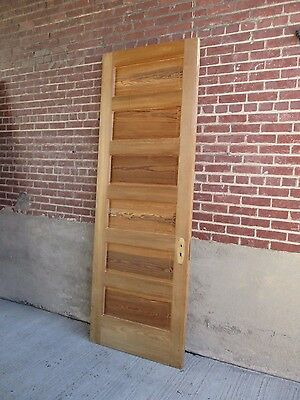 "Antique DOOR -  Solid Fir Wood - Stripped - 6 Raised Panels (95 3/4"" x 29 1/2"")"