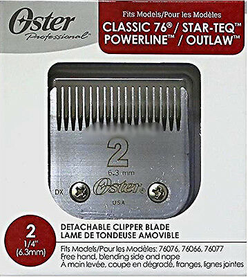 "OSTER REPLACEMENT BLADE 2 (1/4"" 63mm) Fits Classic 76 Star Teq Powerline Outline"