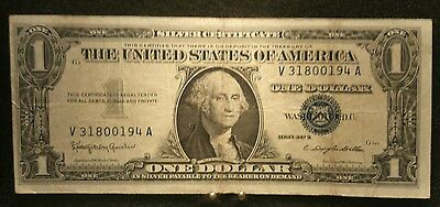 1923-1957 One Dollar US Note $1 Silver Certificate F-XF Bill Blue Seal Currency