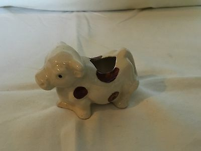 Antique Small Porcelain Brown and White Spotted Cow