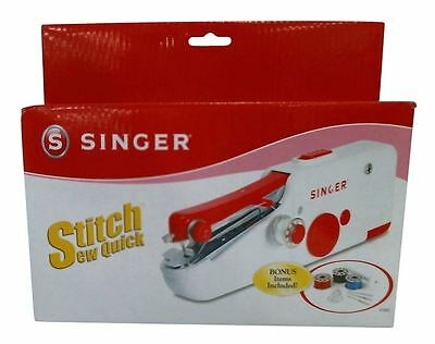 Mini Portable Handy Electric machine ac sewing singer stitch white handheld tool