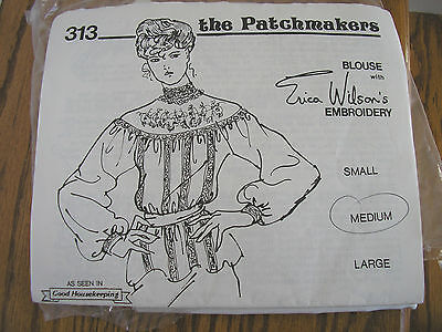 Patchmaker's Victorian Style Blouse Making Kit 1982 Erica Wilson's Embroidery