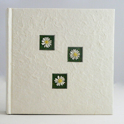Daisy Flower White Cream Mulberry Photo Album Anniversary BirthdayGift 200pic