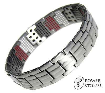 Mens Super Strong Magnetic Therapy Bracelet Bio 4In1 Arthritis Pain Relief 001T