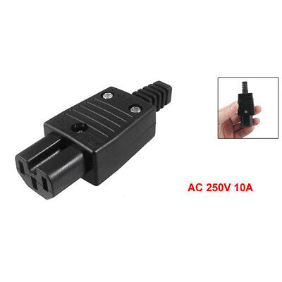 New Black IEC320 C15 Female Outlet Socket Power Adapter Connector AC 250V 10A DT