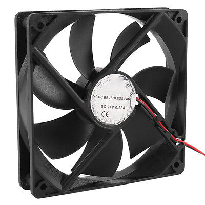 120mm x 25mm DC 24V 2Pin Sleeve Bearing Computer Case Cooling Fan DT
