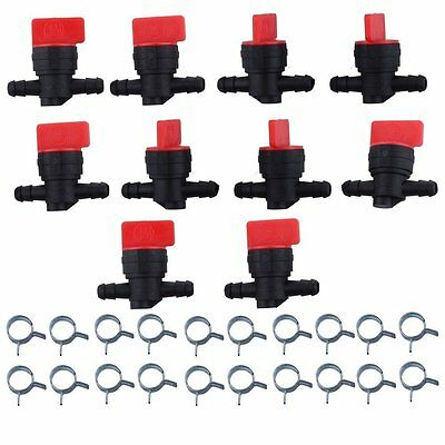 "10 x 1/4"" In-Line Straight Fuel Gas SHUT-OFF / CUT-OFF Valve Petcock Motorcycle"