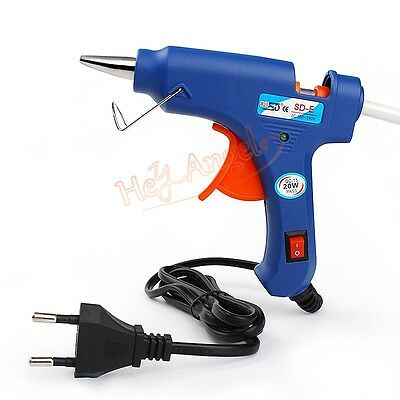 Craft Repair Heating Tool 20W Hot Melt Glue Gun Stick Electric Trigger EU Plug