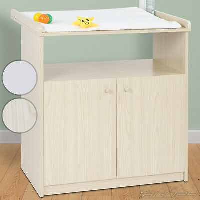 Baby Changing Table Unit Station Storage Space Shelves Chest Nursery Furniture