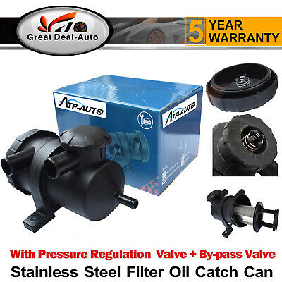 Pro 200 Vent Turbo Oil Catch Can Stainless Filter 4WD Patrol Hilux Landcruiser