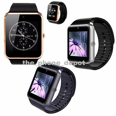 New Bluetooth Smart Watch For Android Samsung LG HTC Camera SIM Slot GT08 UK