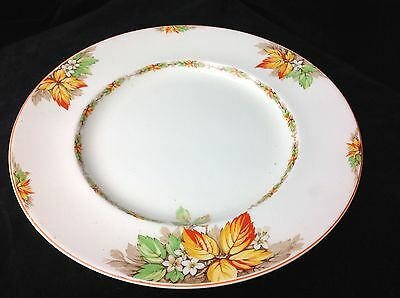 1950's Empire ware dinner plate Highland pattern autumn leaves orange & green