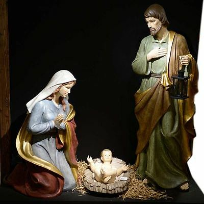 1.6m Life Size Three Piece Commercial Christmas Nativity Set