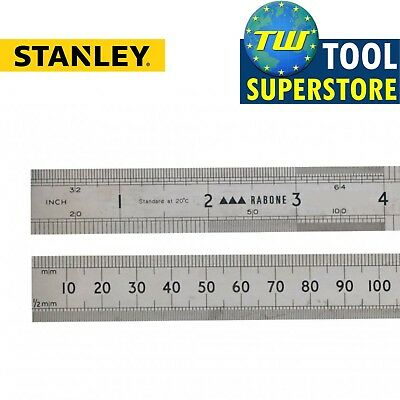 "Stanley Engineer Precision 64R Rabone Rustless Rule 300mm 12"" 0-35-401 STA035401"