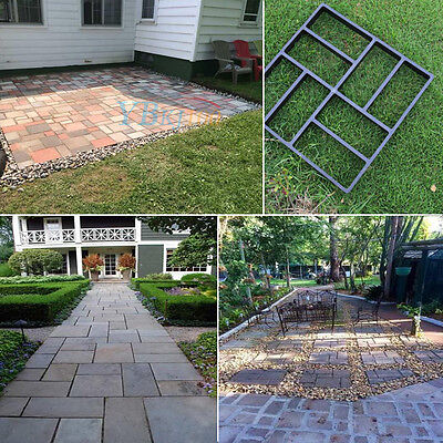 Driveway Paving Brick Patio Concrete Slabs Path Garden Walk Maker Mould UK Stock