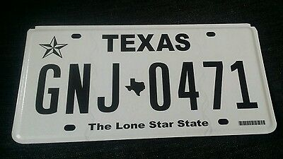 Original USA Texas American Licence Number US Flat Plate Registration Tag Sign