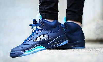 Dead Stock Nike Air Jordan Retro 5 Midnight Navy - Size 8.5 US