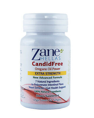 CANDIDA STOP by ZANE HELLAS-Extra Strength Candida Cleanse&Detox.60 Softgels