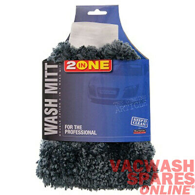 2X Supersoft Wash Mitt - Chenille Pile & Bug Splat Remover - Washing - Valeting
